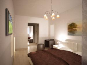 Camera da letto Alpi Trilocale