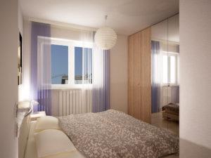 Camera da letto Residenza Alpi Trilocale