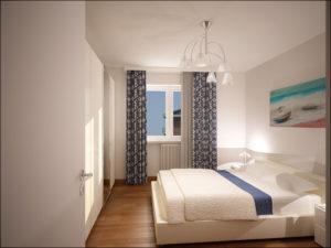 Camera da letto appartamento Bilocale Alpi